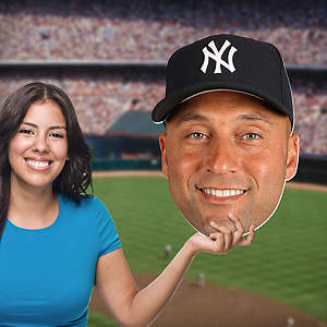 Derek Jeter Big Head Cut Out
